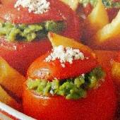 Stuffed Tomatoes with Peas - Domates Yemistes me Araka