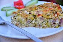 Zucchini Pie without Phyllo or crust - Kolokithopita