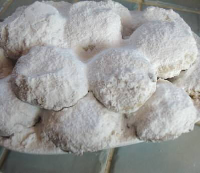 Sugared Cookies with Almonds & Cinnamon