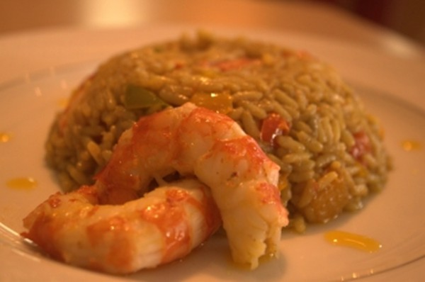 Shrimp and Curry Pilaf from Ithaca